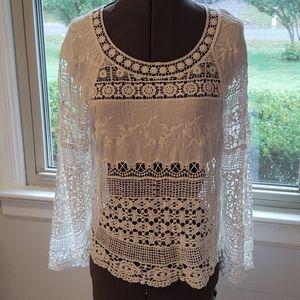 Anthropologie Deletta CrochetTop